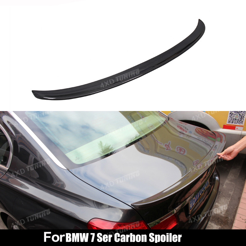 For BMW 7 Series F01 F02 car Carbon Fiber Rear Spoiler AC Style Rear Trunk lip Wing Gloss Black Finish 2009 2010 2011 2012 2013 760li chrome abs car trunk rear letters badge emblem sticker fit for bmw f01 f02 7 series 760 li trunk car styling accessories