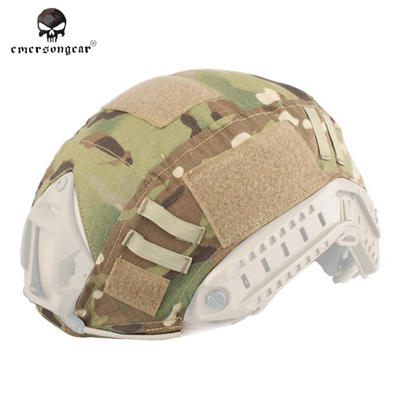 Prix pour Emerson Tactique Couvre-casque pour Rapide Balistique Airsoft Tactique de Chasse Casque Couverture Paintball Militaire Casque Tissu EM8825 #