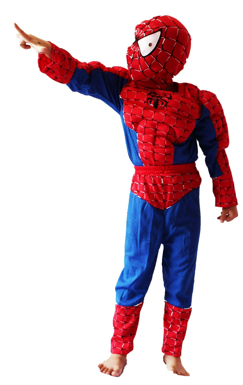 red 3-7years Party Kids Comic Marvel spider-man Muscle Halloween Costume,boy roll play clothing free shipping