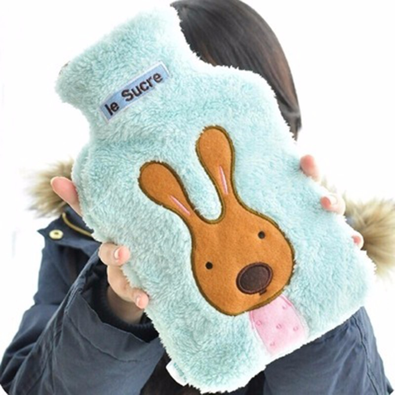 2019 New Creative Cute Cartoon Rabbit Hot Water Bottle Bag Safe And Reliable High-quality Rubber Washable Household Warm Items