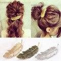 1 PC Mulheres Lady Girl Fashion Folha de Metal Forma Barrette Grampo de Cabelo Hairpin Acessórios Para o Cabelo