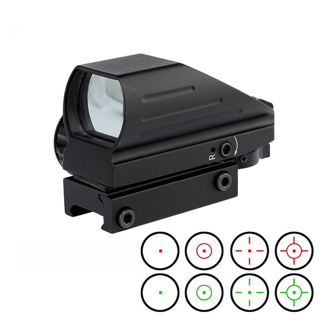 Red green Dot Sight Multi Reticle 1X22X33 red dot scope red/green dot 4 reticle reflex sight for hunting shooting цена