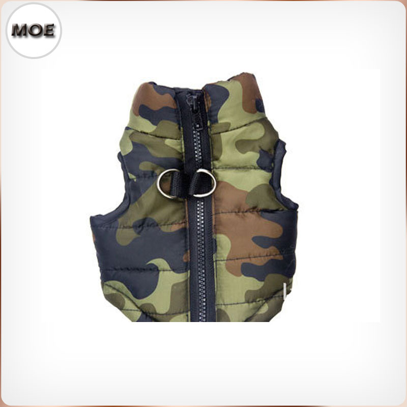 2017 Pet Winter Clothing Green Pink Camouflage Down Coat Dog Jacket On Sale