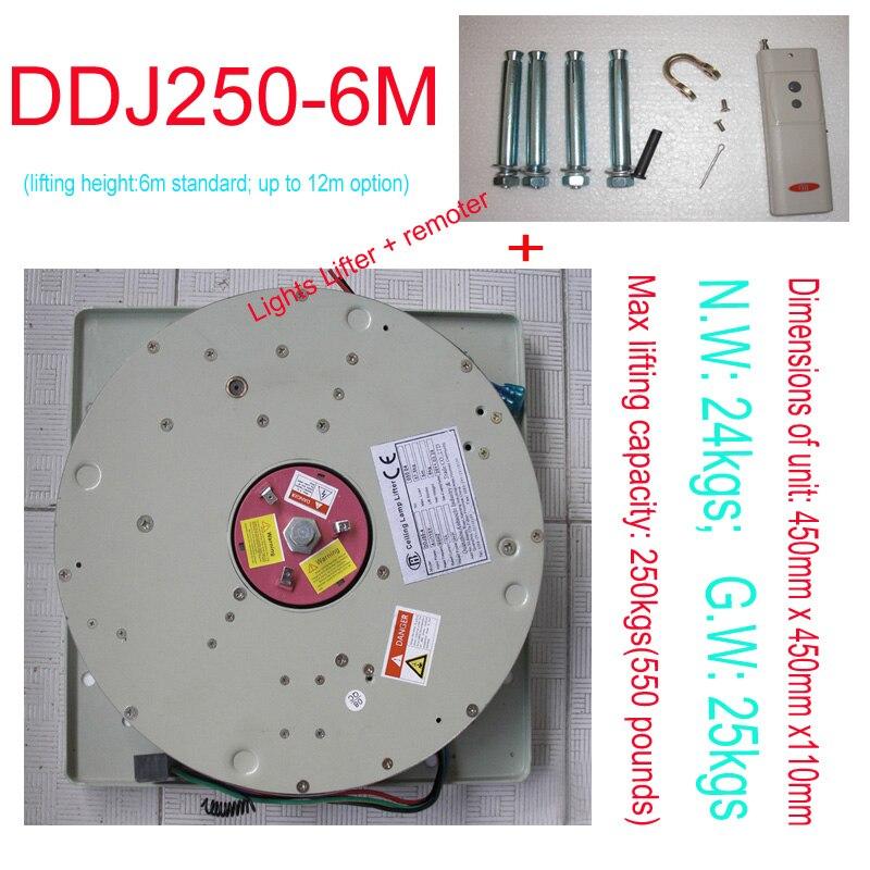 250 KG 6 M Lampadario Hoist Lighting Lifter Lampadario Verricello di Sollevamento del Sistema 110 V, 120 V, 220 V, 230 V, 240 V spedizione gratuita