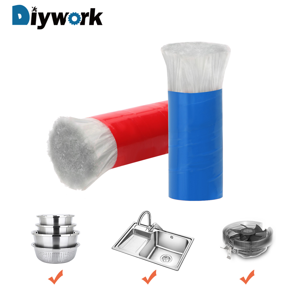 DIYWORK 2Pcs/Set Stainless Steel Brush Cleaning Brush Multiuse Magic Stick Pot Kitchen Cooking Cleaning Tool Metal Rust Remover