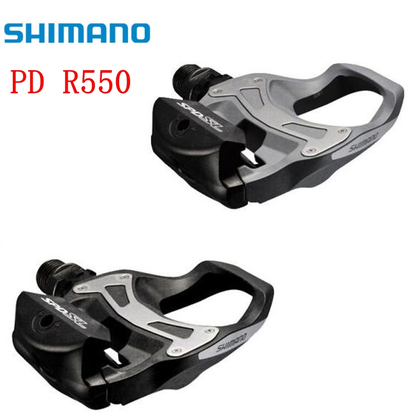 Shimano Road Bike pedals PD R550 Self-Locking SPD pedale vtt Cycling PD-R550 Components Using for Bicycle Racing Cleats Parts r550