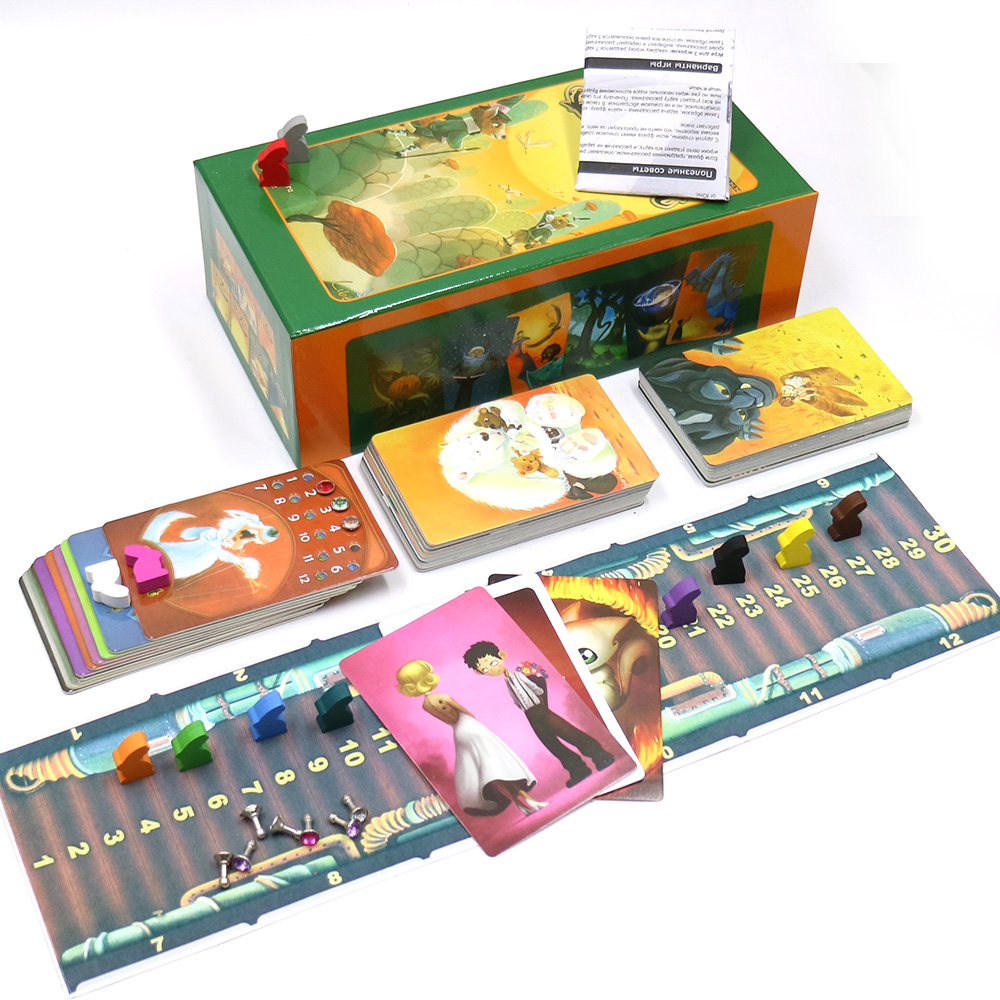 2019 English Version Dixit 1 2 3 4 5 6 7 Board Game Wood Bunny Educational Kids Toys For Family Activities Cards Game