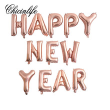 Chicinlife 1Set  Happy New Year Number 2018 Balloons Banner Happy New Year Eve Ideas Party Decoration Celebration Supplies