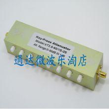 2Watt Coaxial Adjustable Key Press SMA K K RF step Attenuator Stepping 0 60dB DC to
