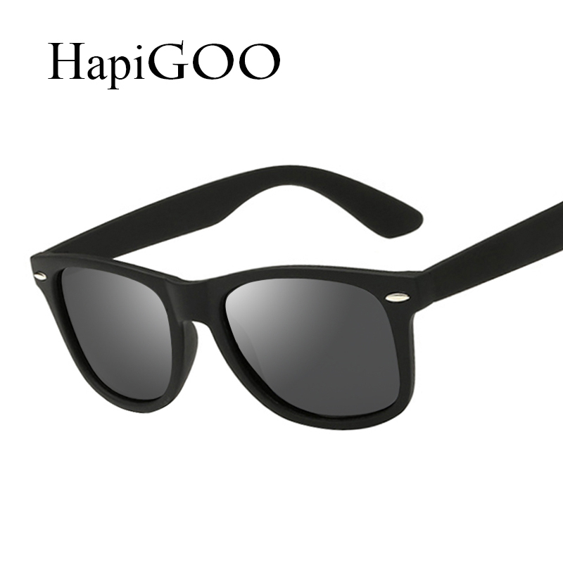 a4bdf70724c HapiGOO Fashion Square Polarized Sunglasses Vintage Men Women Coating Mirror  Sun Glasses Brand Designer Female Rivet Shades-in Sunglasses from Men s ...