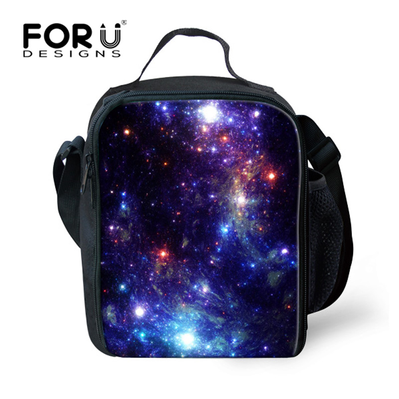 keep warm galaxy lunch bags for women kids insulated lunch bag thermal bag cooler box children. Black Bedroom Furniture Sets. Home Design Ideas