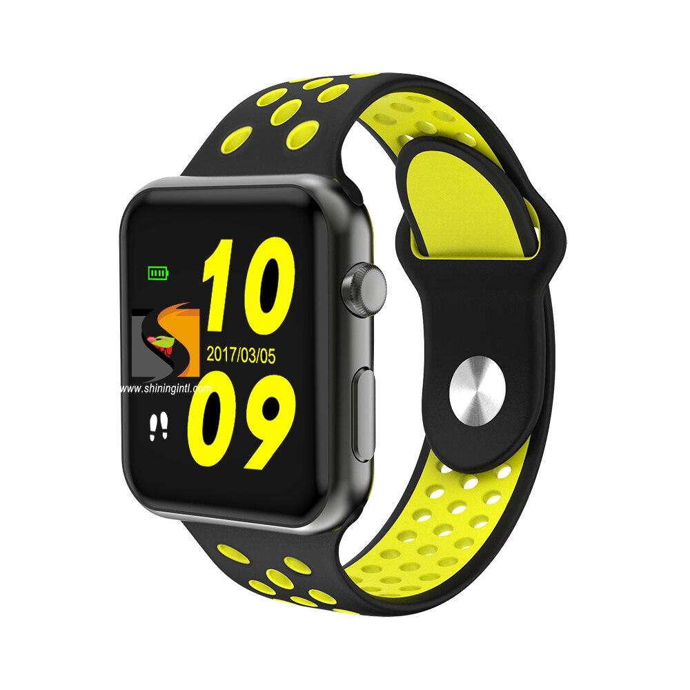 imágenes para DHL Lujo smochm IWO3 más Actualizado Bluetooth Inteligente Reloj Del Ritmo Cardíaco Del Monitor de la presión arterial de actualización de software para el iphone Android