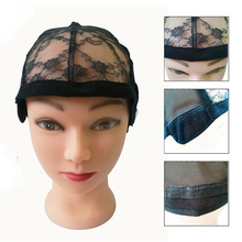 цена на Weaving Wig Cap Rose Front Lace Mesh Base Machine Made Stretchy Net Medium Black Wig Caps For Making Wigs In Hairnets 10pcs/lot