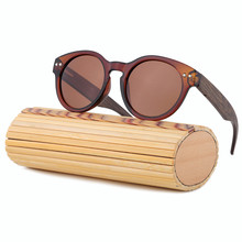 2017 Fashion Handmade Bamboo Sunglasses Women Men Brand Design Wood Sun glasses Polarized With Box Oculos De Sol Feminino LS5001