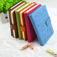 Cute Leather Notebook Paper 96 Sheets Personal Diary Stationery Products School Notebook Office School Supplies Lovely