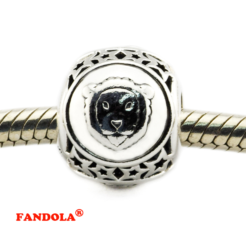 Leo Star Sign Charm Beads Diy Fits Pandora Original Charms Bracelet 925 Sterling Silver Jewelry For Women Men Gift Fl419 Firm In Structure Beads Jewelry & Accessories