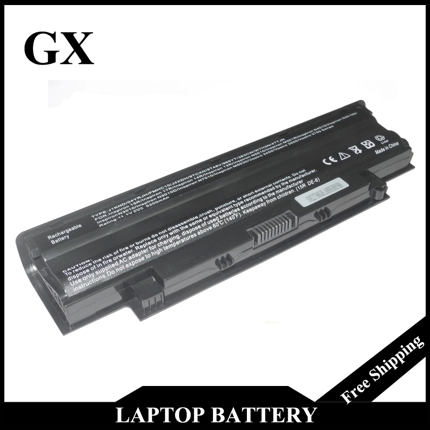6 Cells Laptop Battery For DELL Inspiron N5010 N5110 J1KND 14R N4010 N4010-148 15R 17R N7010 J1KND new for dell inspiron 1464 1564 1764 n4010 fan