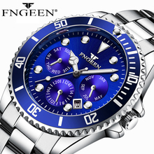 2019 Watches Men Sports Waterproof Date Analog Quartz Clock High Quality Mens Watches Business Watches For Man Relogio Masculino cheap Quartz Wristwatches STAINLESS STEEL 22cm Folding Clasp with Safety 3Bar Auto Date Complete Calendar Shock Resistant Water Resistant
