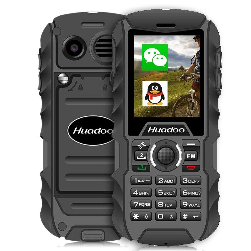 Huadoo H1 <font><b>IP68</b></font> водонепроницаемый quad band разблокировать телефон пыле противоударный fm фонарик Открытый прочный 2.0 дюймов сотовый телефон