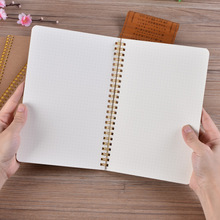 Bullet Journal A5 Notebook Kraft Grid Dot Blank Drawing Daily Weekly Planner Agenda Book Time Management School Supplies Gift(China)