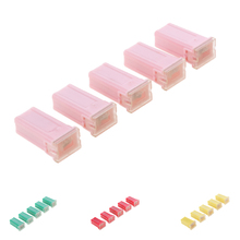 цена на 5 Pieces Car 32V FLF-M Female Push in Blade Cartridge PAL Fuses 30A 40A 50A 60A Water Resistant Housing
