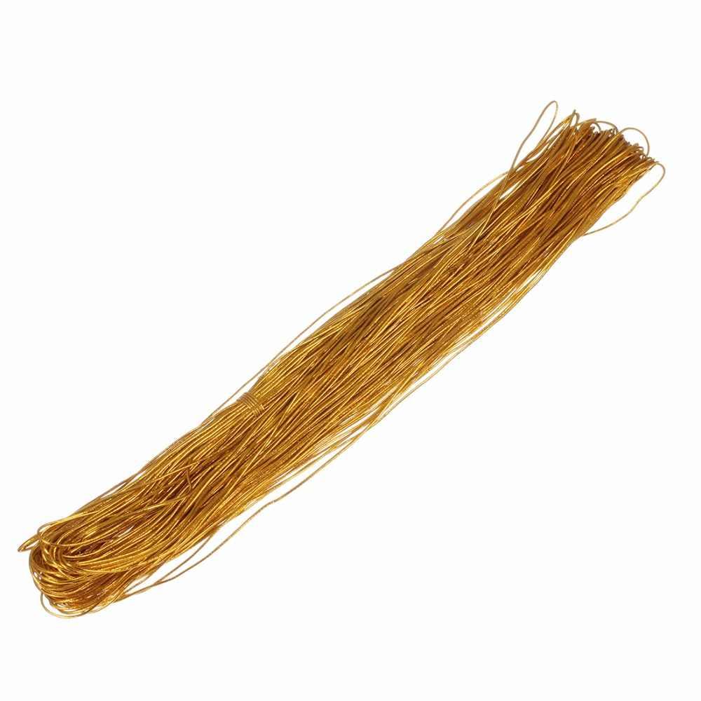 XINYAO 50 м золотого и серебряного цвета эластичные растягивающиеся шнуры диаметром 1 мм 1,5 мм Шнур для изготовления ювелирных изделий Diy браслет