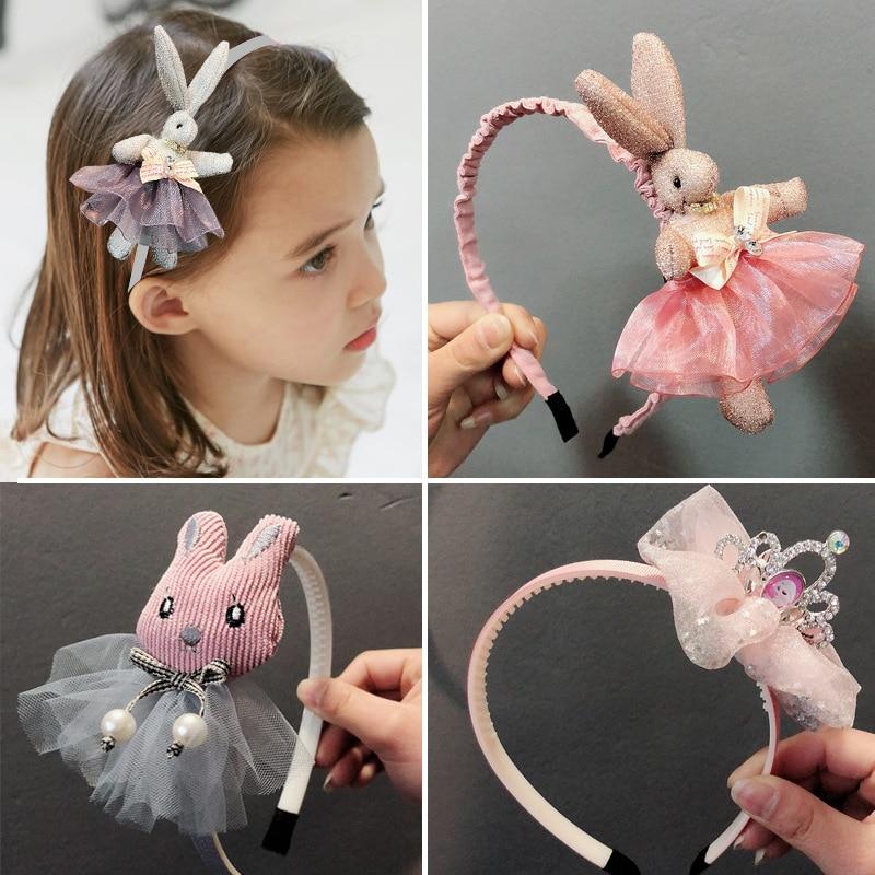 Повязка на голову с милым мультяшным кроликом для детей, повязка на голову для девочек, обручи, аксессуары, изысканная повязка на голову при...