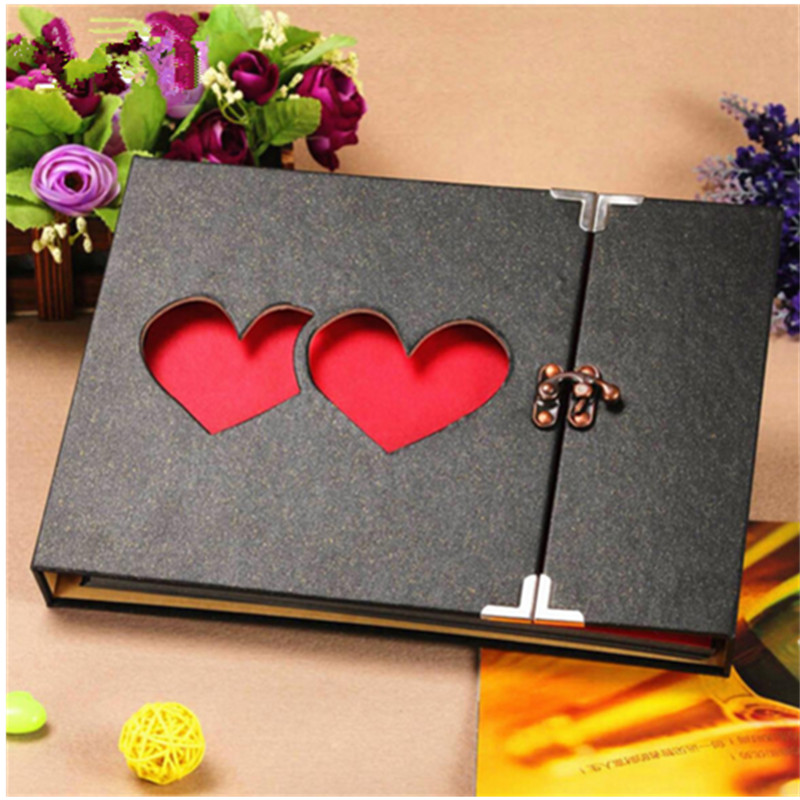 Nya 10inch DIY Photo Album Lovers Födelsedagspresent Bröllopsfoto Babyfoto Ablum Scrapbook Paper Crafts Polaroid Albums Sticky