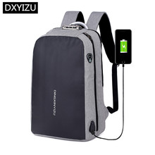 DINGXINYIZU anti theft backpack usb charge business travel laptop bag 15.6 student boy school reflective strip