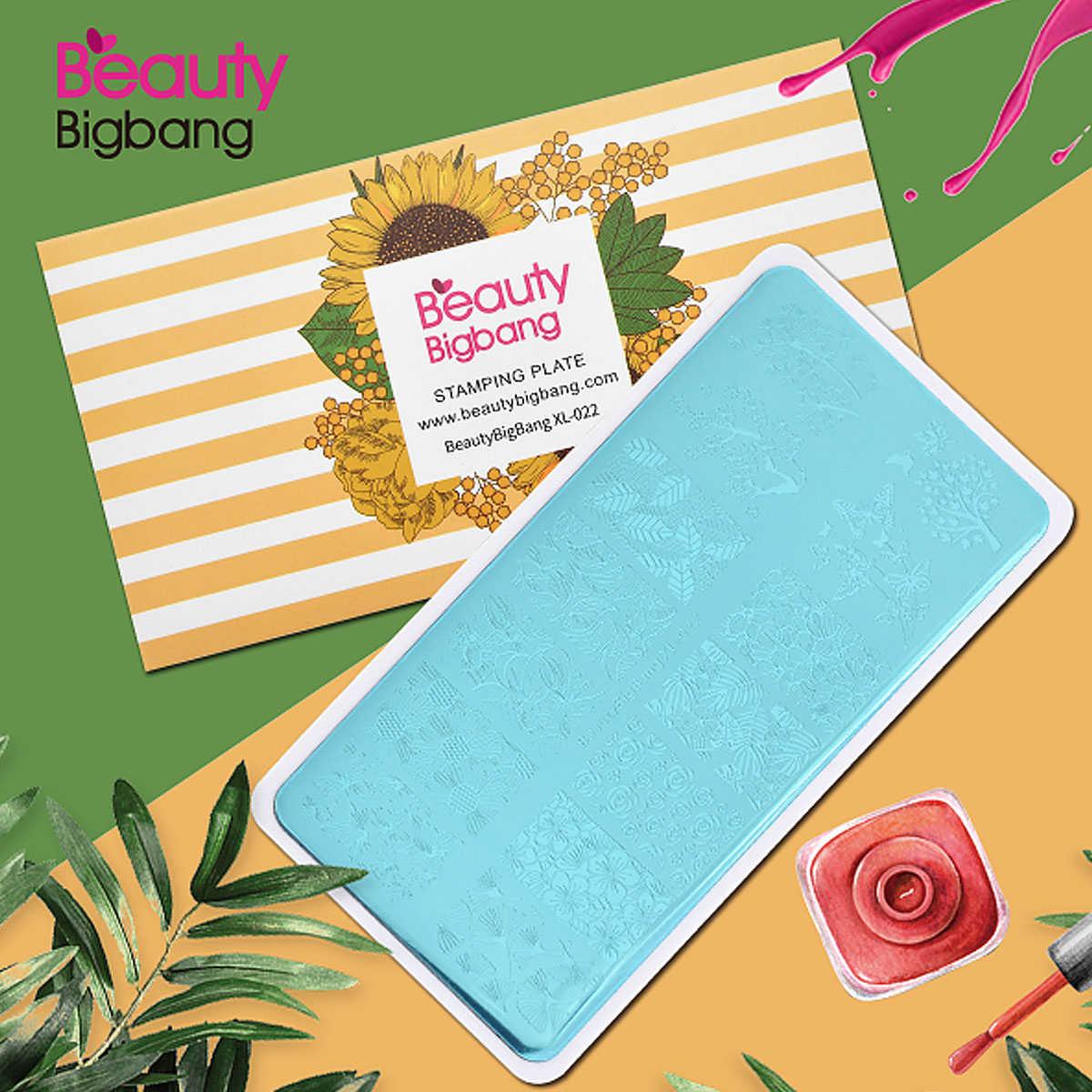 BeautyBigBang 6*12 ซม.สี่เหลี่ยมผืนผ้าแผ่นปั๊มเล็บธีมฤดูใบไม้ร่วง STAMP Template Stencils เล็บเล็บเครื่องมือ