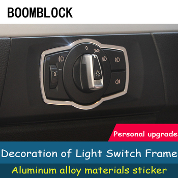 Car Styling Interior Stickers For BMW 3 Series BMW E90 E91 E92 E93 M Sprots All Light Switch Panel Trim Frame Covers Accessories image