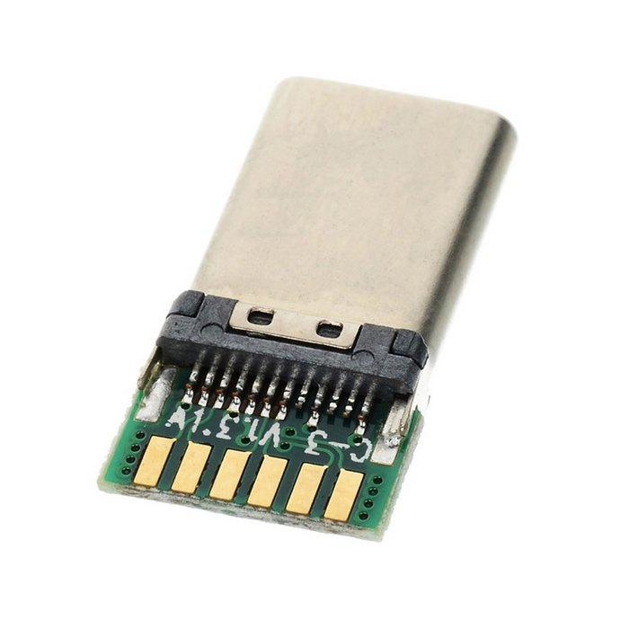 100 шт./лот CY DIY 24pin USB 3,1 Тип C USB-C штекер разъема SMT Тип с ПК совета 5,1 К резистор