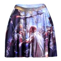 New Hot Oil Painting Women Sexy Pleated Skirts Tennis Bowling Bust Shorts Skirts Crowd Female Fitness Sport Apparel A Style
