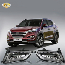 SNCN LED Daytime Running Lights For Hyundai Tucson 2016 2017 Fog lamp driving lights DRL sncn led fog lamp for ford fiesta 2009 2016 with daytime running lights drl 12v high brightness