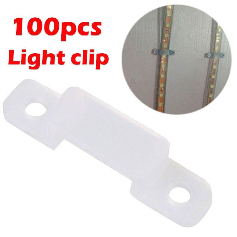 100pcs Silicon Fastener 5050 5630 LED Strip Light RGB Accessory Fixer Clip Clear Silicone Soft 12mm Fix Home Decor