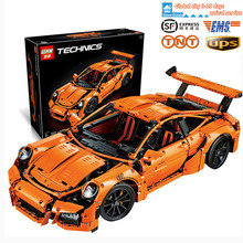 2016 New LEPIN 20001 2704Pcs Technic Series 911 GT3RS Race Car Model Building Kits Blocks Bricks Compatible Gift 42056 boy toy