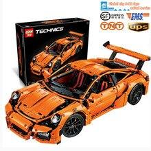 2016 New LEPIN 20001 2704Pcs Technic Series 911 GT3RS Race Car Model Building Kits Blocks Bricks Compatible Gift 42056 boy toy