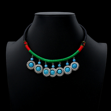 цена на 2019 Ethnic Tribal Beads Pendant & Necklace Women Bohemian Vintage Statement Choker Necklace Jewelry Boho
