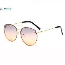2019 New Arrival Ocean Lens Women sunglasses Big Frame Men Metal Fashion Eyeglasses