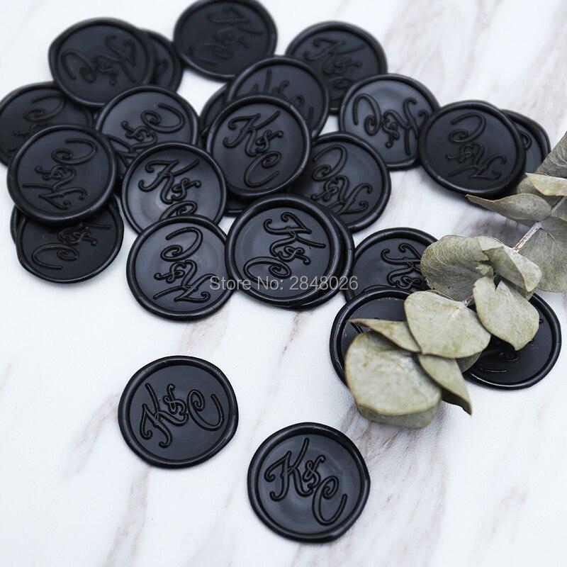 INITIALS WAX SEAL STICKER,wedding seal sticker,Initials was seal sticker,party wax seal sticker-in Stamps from Home & Garden
