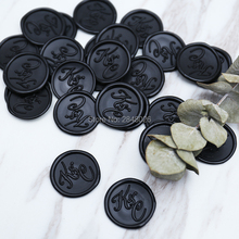 Iniciales adhesivo de sellado con cera, etiqueta de sello de boda, iniciales era pegatina de sello, sello de cera para fiestas adhesivo de sellado con cera