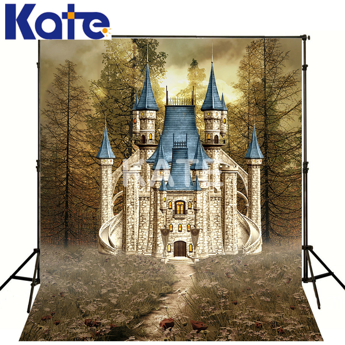 Thick Cloth Backdrops For Photography Wild Cartoon Castle Kate Background Backdrop Fabric Backgrounds kate 300x600cm photography background castle photography baby backdrops castle creek cartoon background newborn photograph