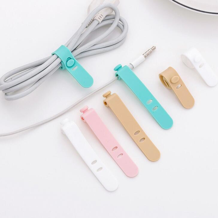 4Pcs Silicone Cable Organizer Line Storage Holder Cable Winder Wire Wrapped Cord