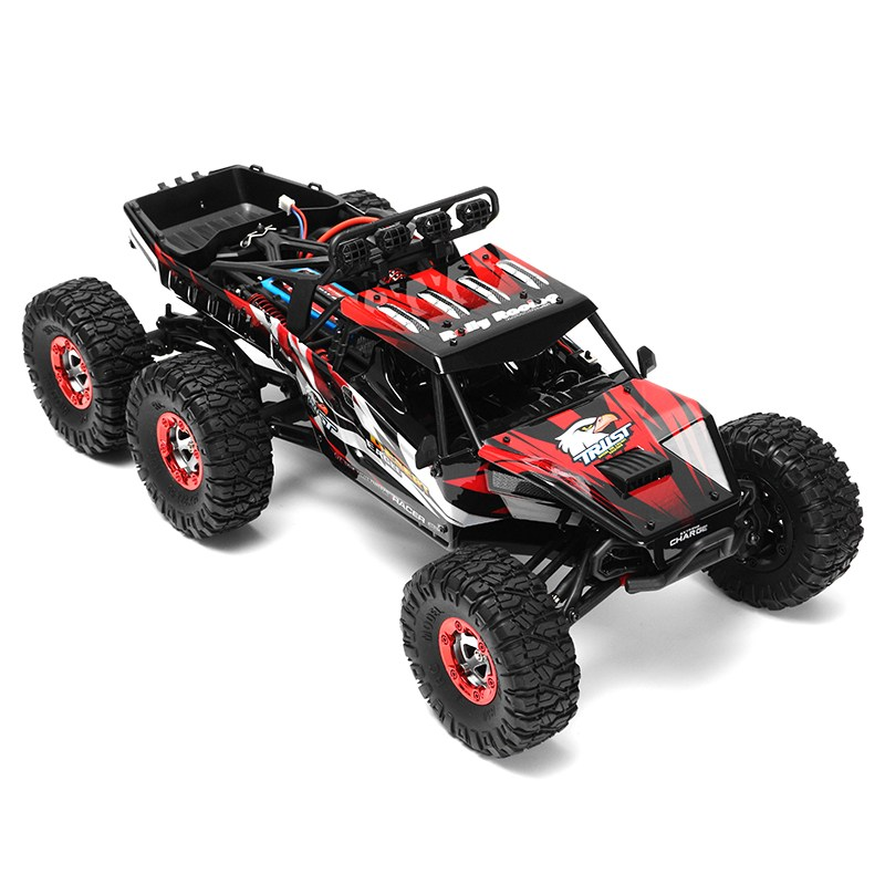 Feiyue FY06 1:12 RC Car 2.4GHz 6WD 60KM/HRC Off-road Desert Truck RTR LED Lights Metal Shock Absorber waterproof connector sp13 type 2 3 4 5 6 7pin ip68 cable connector plug and socket