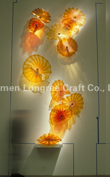 Creative Stair Wall Decoration Plate Blown Glass Wall Art Plates