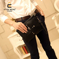 New Arrivel High Quality Women Day Clutch Bag Envelope Bags Black Men Bags Pu Leather Small fashion rivet