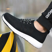 new arrival mens fashion comfortable steel toe caps working safety shoes platform construction site worker security boots mans