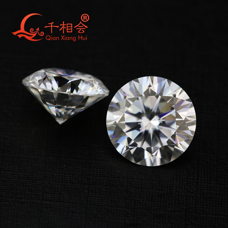 6.5mm DF  color white Round Brilliant cut moissanites loose stone with  certificate 5