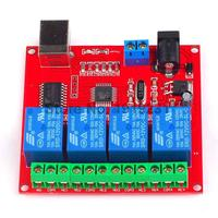 1PCS 4 Channel 12V Relay Module 4Channel Computer USB Control Switch Free Driver PC Intelligent Controller