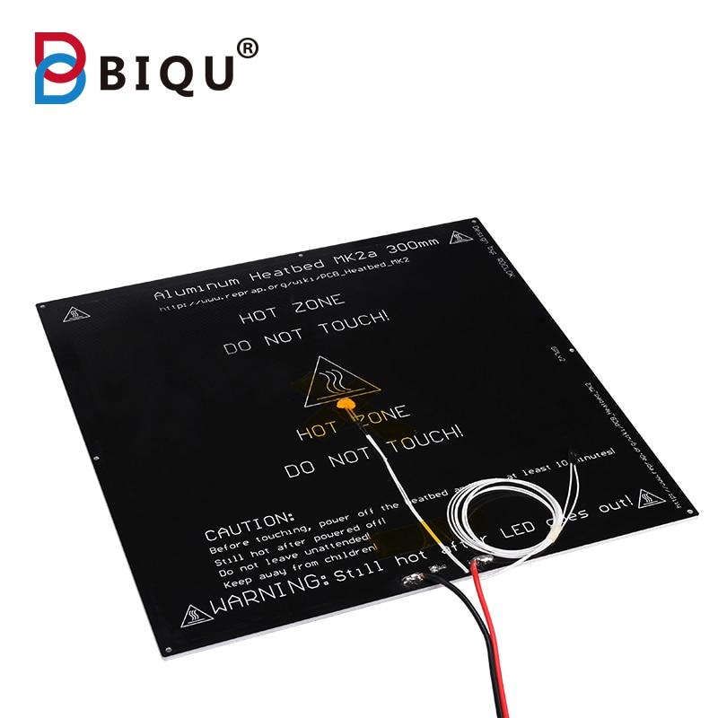 BIQU MK2A plaque chauffante en aluminium 300*300*3mm noir pour Mendel RepRap rampes 1.4 pièces d'imprimante 3d